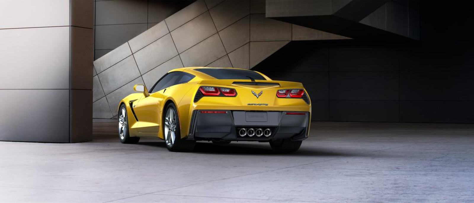 ... 2016 Corvette Stingray Rear Racing Yellow ...