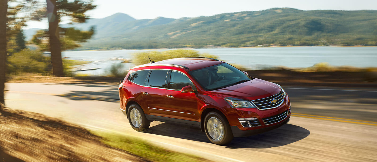 2017 Chevrolet Traverse in red