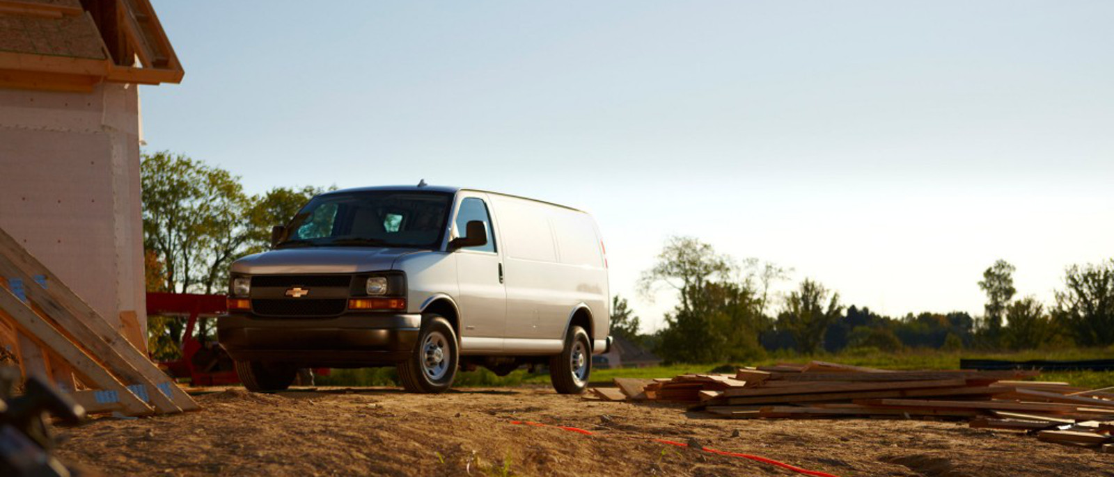 2016 Chevrolet Express Cargo Van on work site