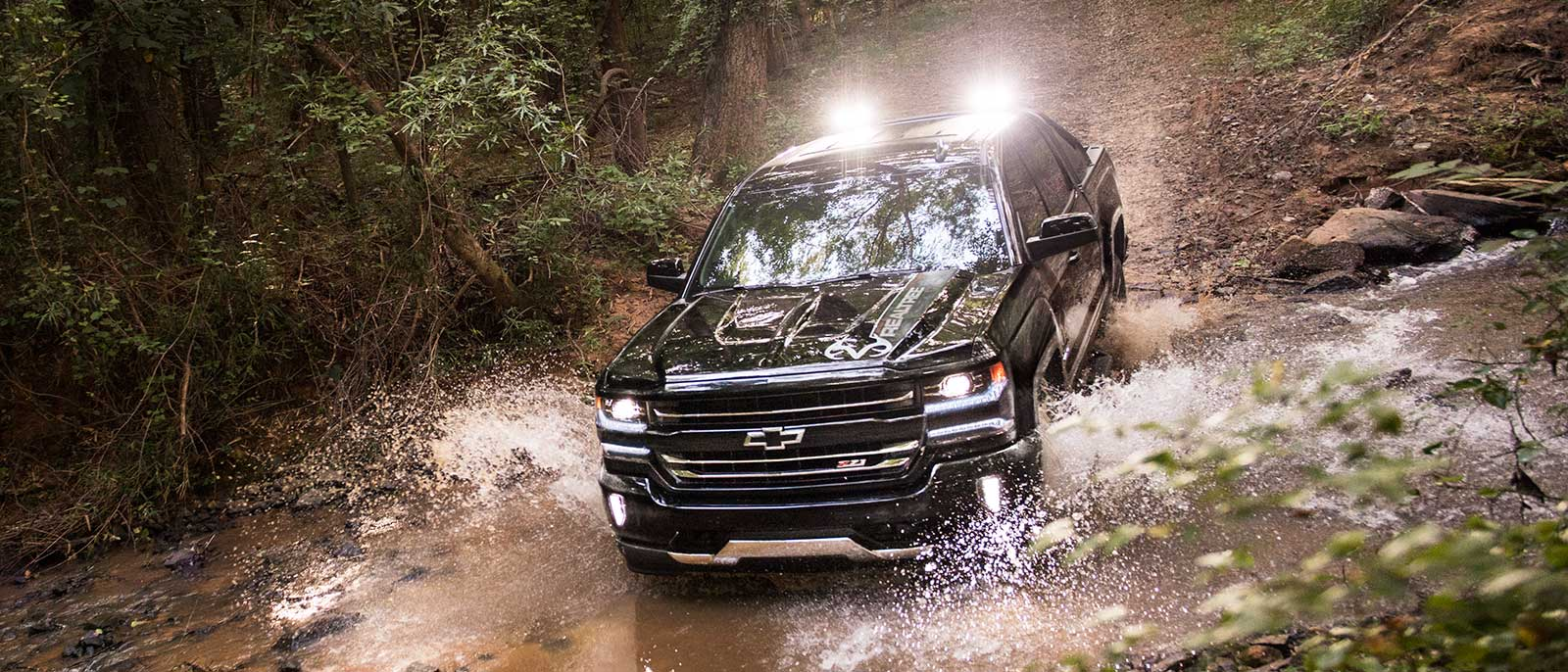 2017 Chevrolet Silverado 1500 crossing a river