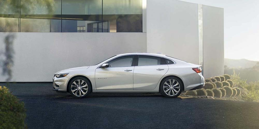 2017 Chevrolet Malibu In Front Of House
