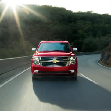 2018 Chevrolet Tahoe red front