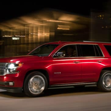 2018 Chevrolet Tahoe side red