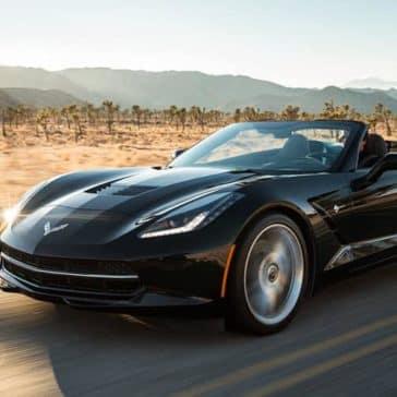 2018 Chevy Corvette Exterior driving in the desert