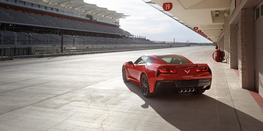 2018 Chevy Corvette Exterior parked on a racetrack