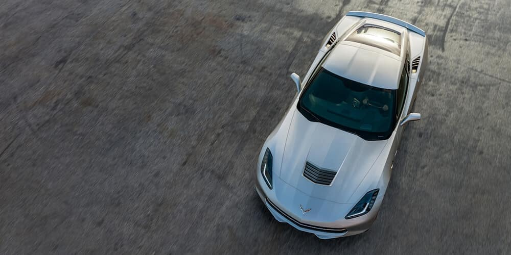 2018 Chevy Corvette Exterior View from above