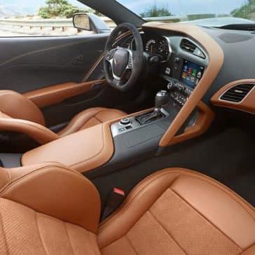 2018 Chevy Corvette Interior brown leather