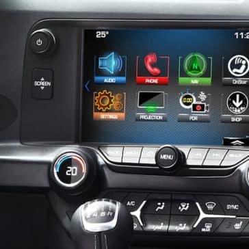 2018 Chevy Corvette Interior Touch Screen