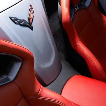 2018 Chevy Corvette Interior Badge between seats