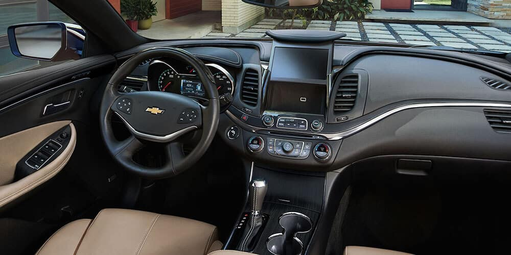 2019-Chevrolet-Impala-interior-black-and-tan