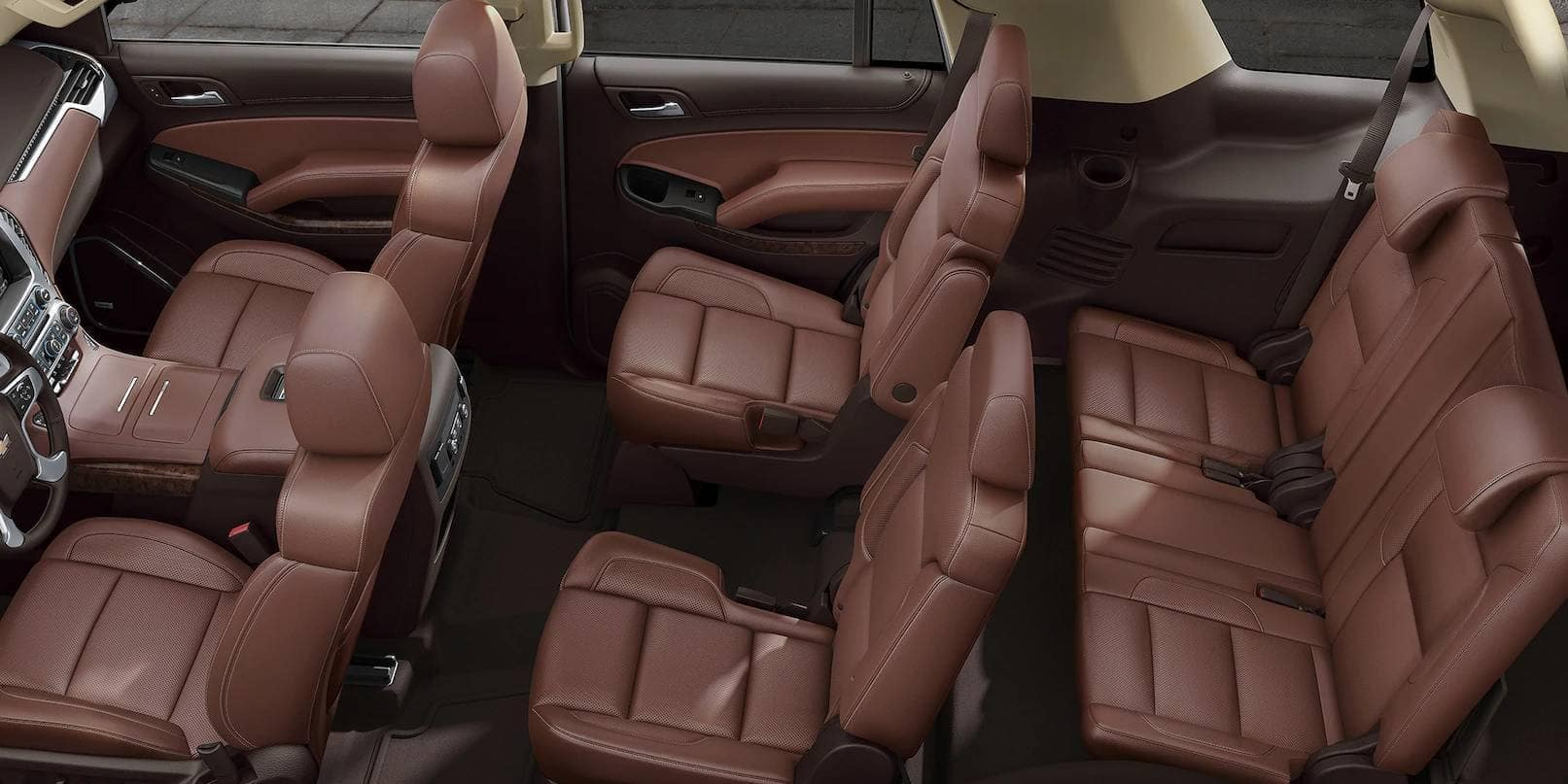 2019 Chevrolet Tahoe Interior Tan Leather Seats