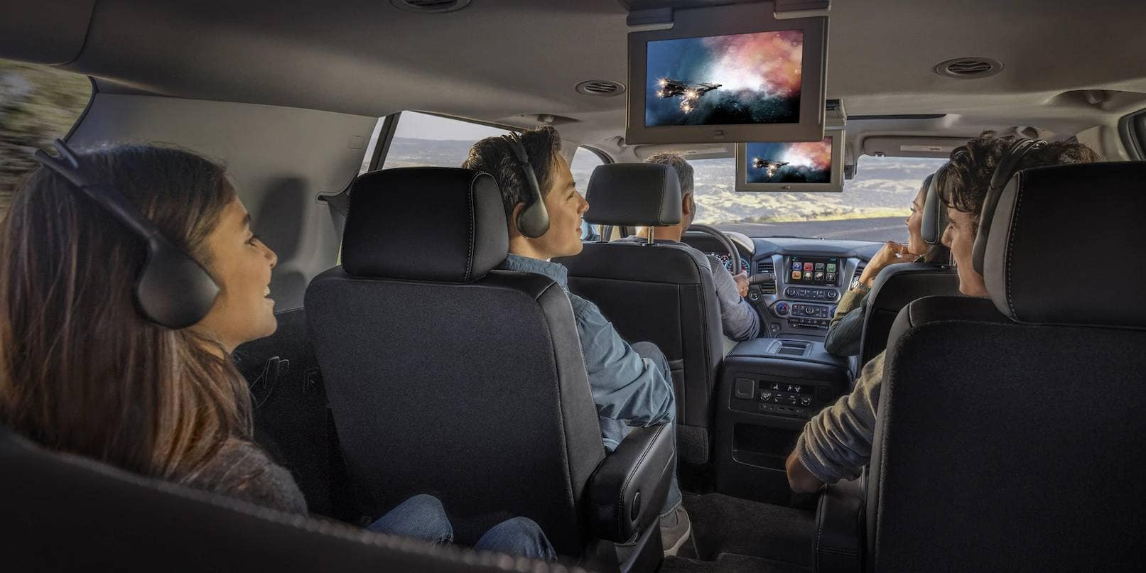 2019 Chevrolet Tahoe Interior Watching a Movie