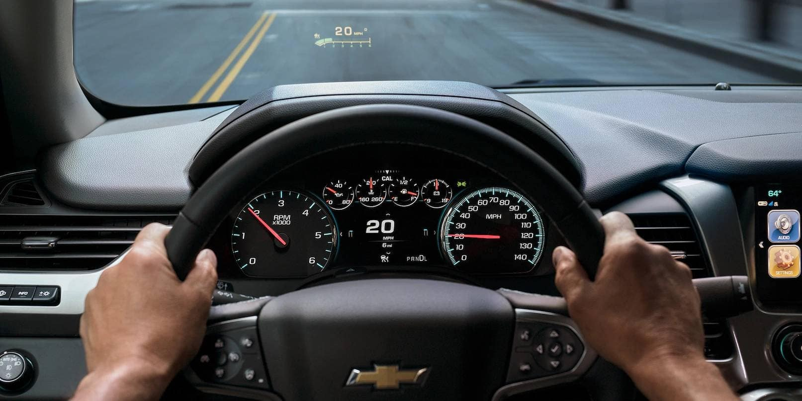 2019 Chevrolet Tahoe Interior Dashboard Driving on Highway