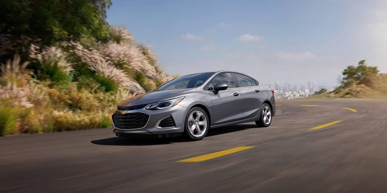 2019 Chevrolet Cruze sedan on the road