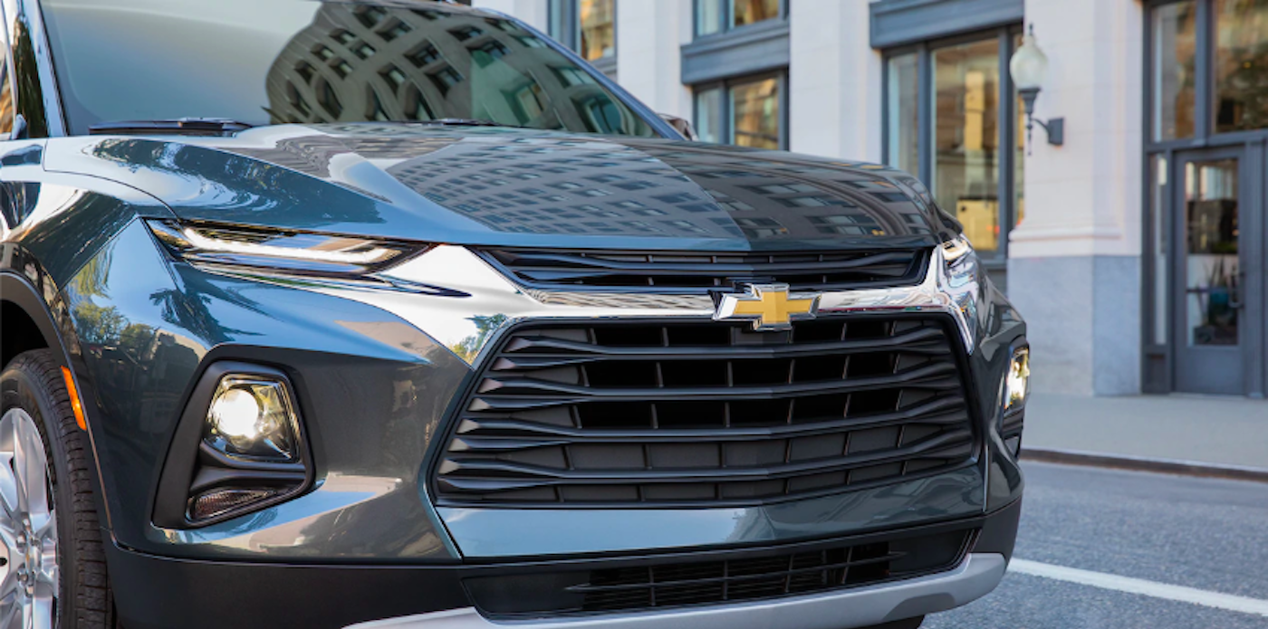 2019 chevy blazer grey front
