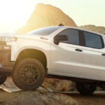 2019 chevy silverado 1500 white on mountain