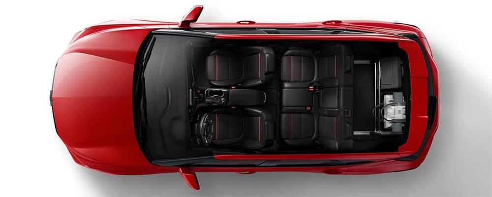 Chevy Blazer interior Layout Top View