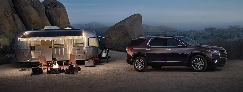 Chevrolet Traverse Parked After Towing Mobile Home