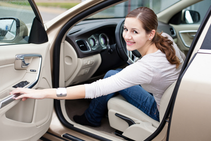 Lady In New car
