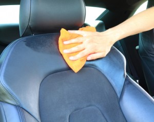 cleaning the car seat