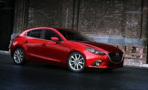 Side view of the 2014 Mazda3