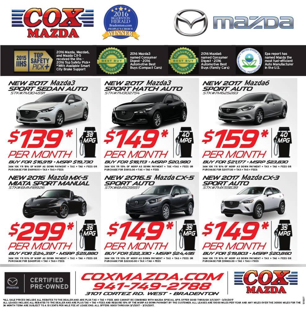 cox mazda weekly ad
