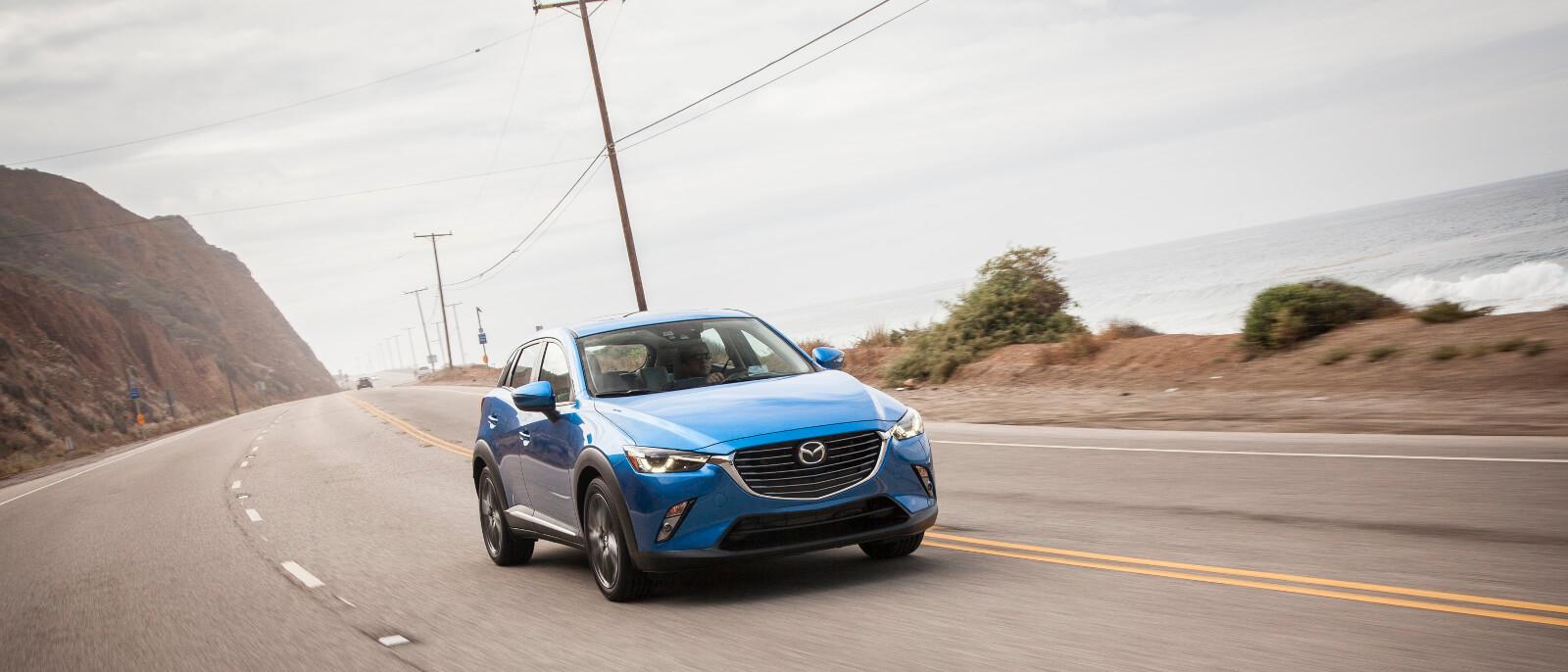 Mazda CX-3 in blue