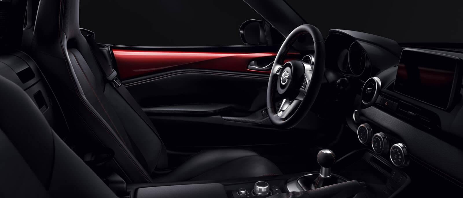 2017 Mazda MX-5 RF interior dashboard view