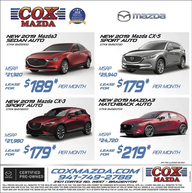 Cox Mazda Weekly Specials