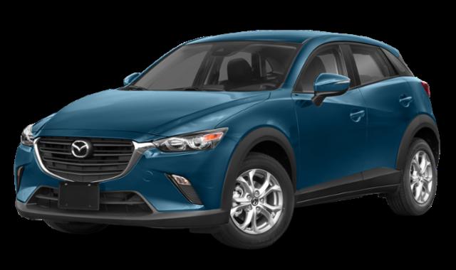 2019 mazda cx-3 blue model exterior
