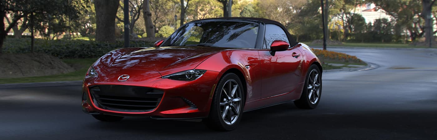 2019 mazda miata red exterior parked on road