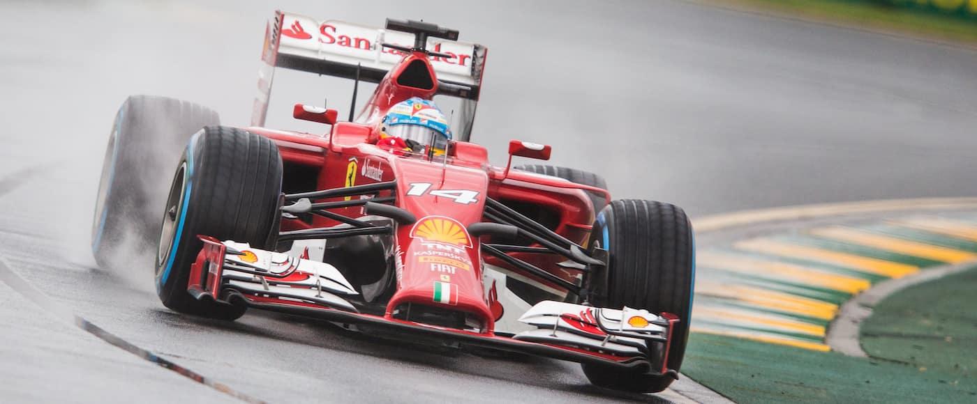 F1 on track