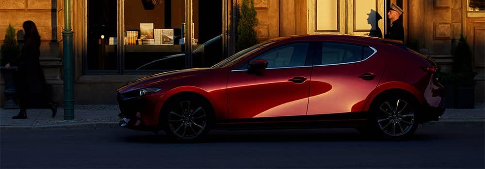 Mazda3 Hatchback Parked on Side of Street