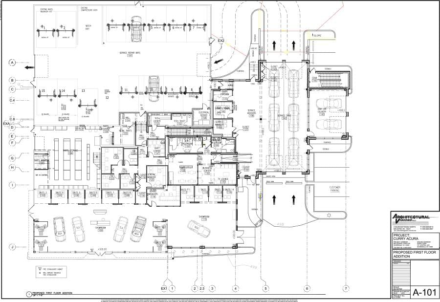 4 3 2017 A 101 Proposed First Floor Plan