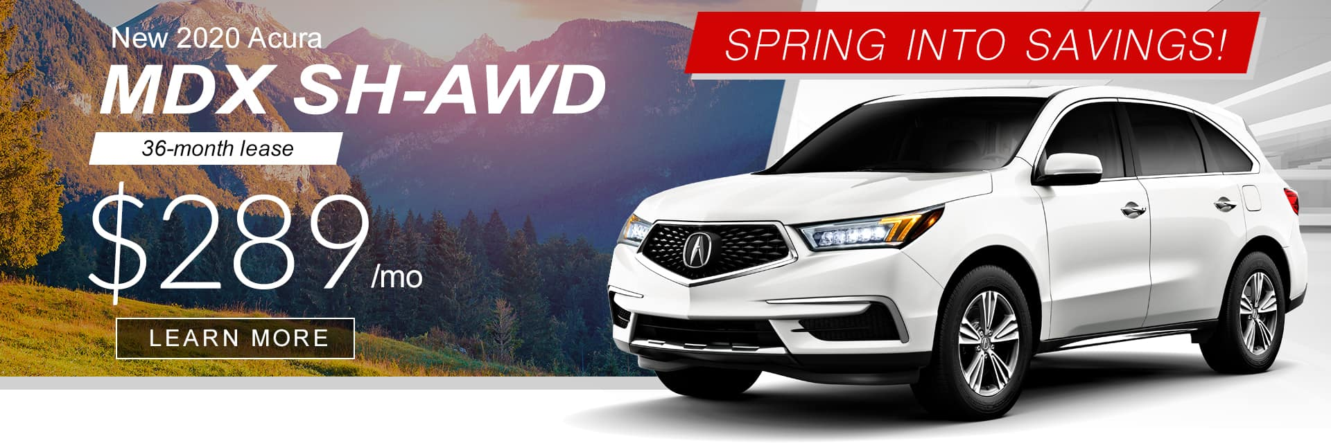 2020 MDX SPring into Savings Banner