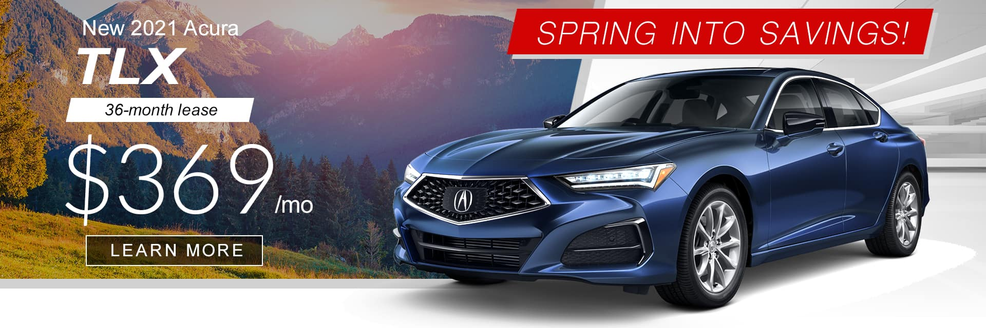 2021 TLX Spring into Savings Banner