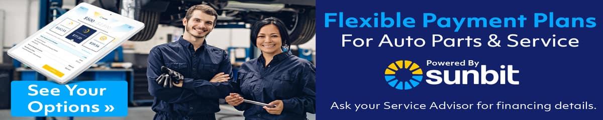 We offer service financing