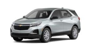 A silver 2022 Chevy Equinox LS is angled left.