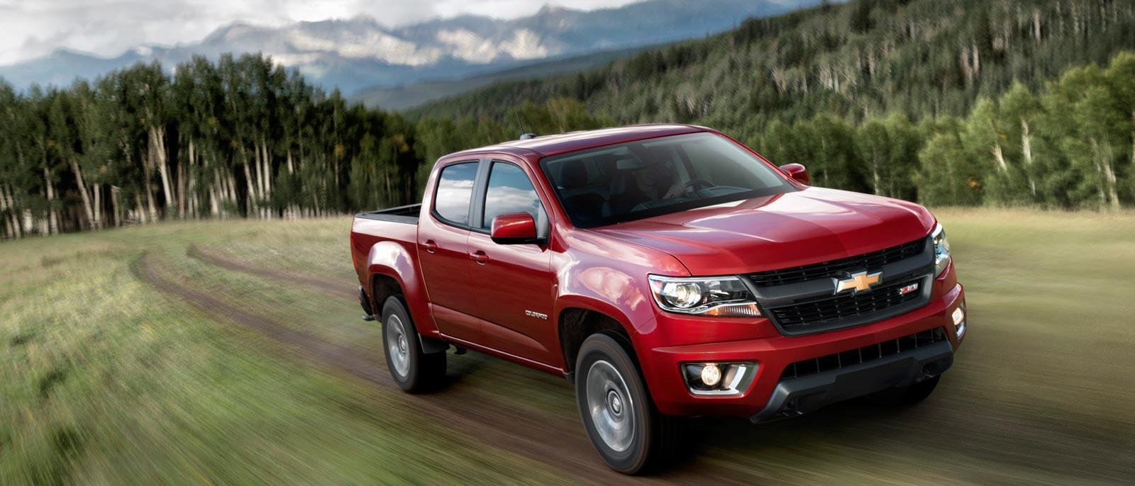 2016 Chevrolet Colorado in red