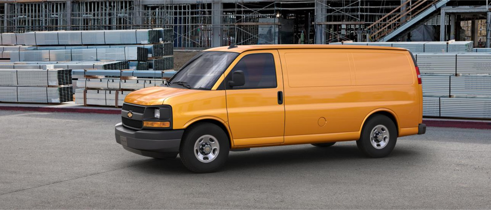 2016 Chevy Express 2500 Profile Yellow