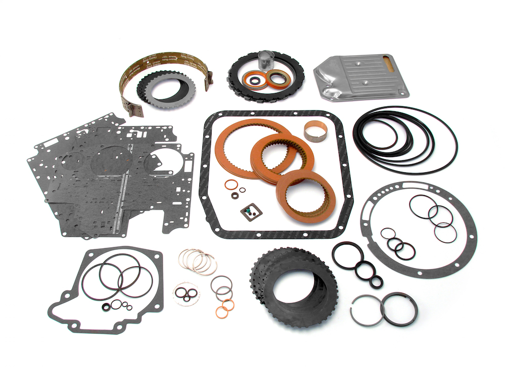 There are certain parts of the transmission that are replaced, such as seals, gaskets, etc.