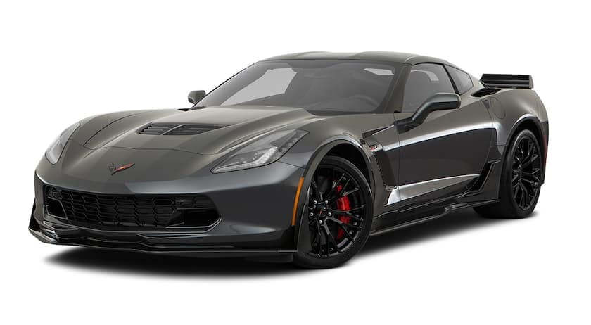 A black 2017 Chevy Corvette Z06 is facing left.