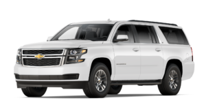 A white 2017 Chevy Suburban is angled left on a white background.