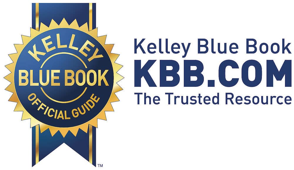 Kelly Blue Book gold and blue ribbon logo