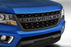 blacked-out bowtie grille insert for 2019 Chevrolet Colorado