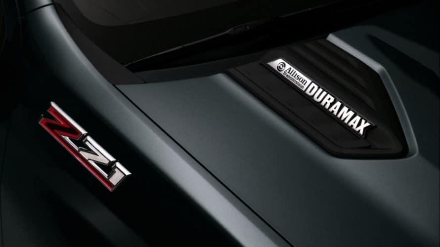 Black Allison Duramax transmission in a 2020 Chevy Silverado HD Z71