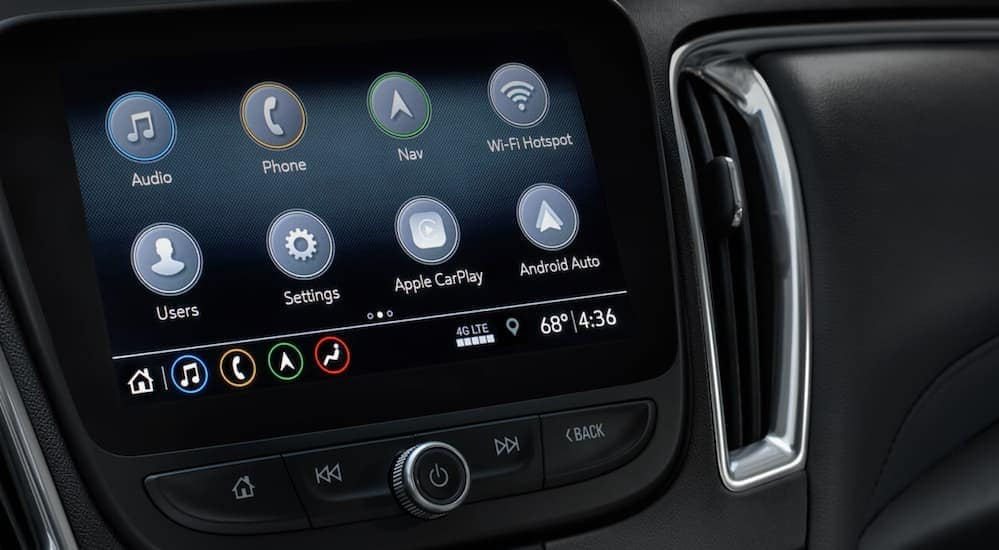 The infotainment system that you will find in a Chevy vehicle which can be used with Apple and/or an Android phone.