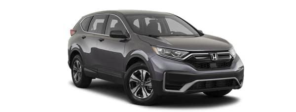 A grey 2020 Honda CR-V is facing right.