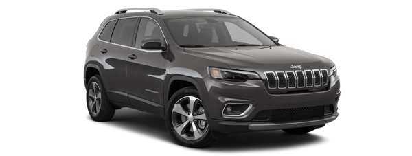 A brown 2020 Jeep Cherokee is angled right on a white background.