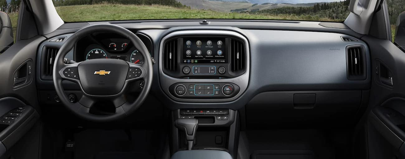 The dashboard of a 2020 Chevy Colorado is shown.